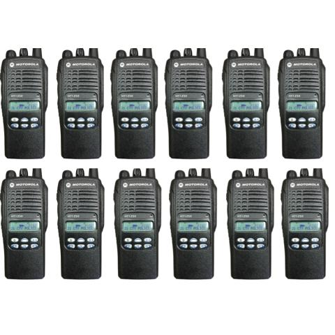 Motorola HT1250 Portable Handheld Radio - Limited Keypad (12 UNIT BUNDLE)