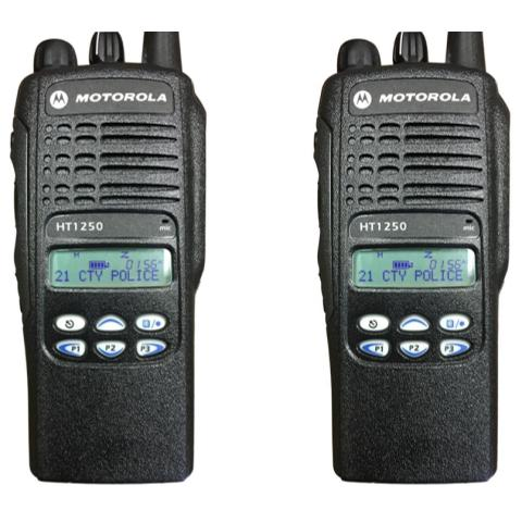 HT1250 Portable Handheld Radio - Limited Keypad (2 UNIT BUNDLE)