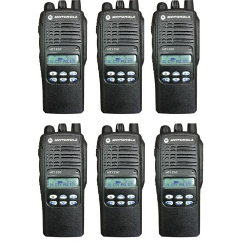 Motorola HT1250 Portable Handheld Radio - Limited Keypad (6 UNIT BUNDLE)