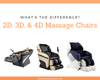 2D, 3D, & 4D Massage Chair Differences