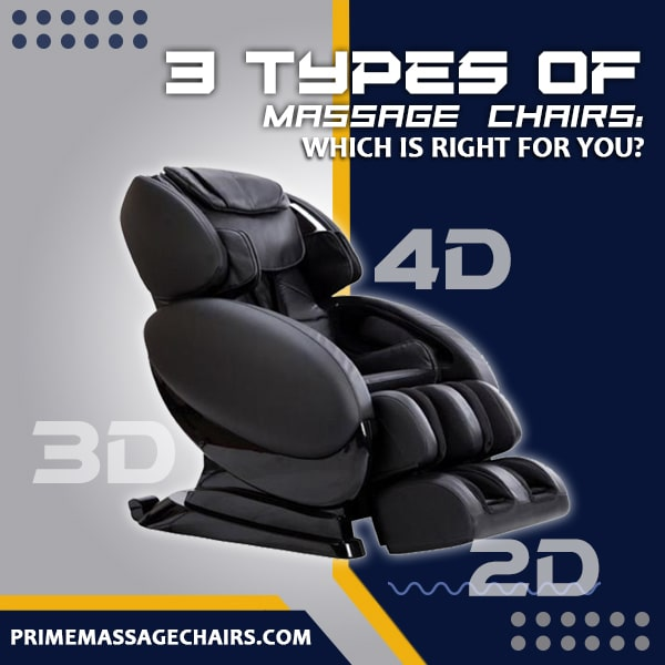 Three Types of Massage Chairs: Which Is Right for You?