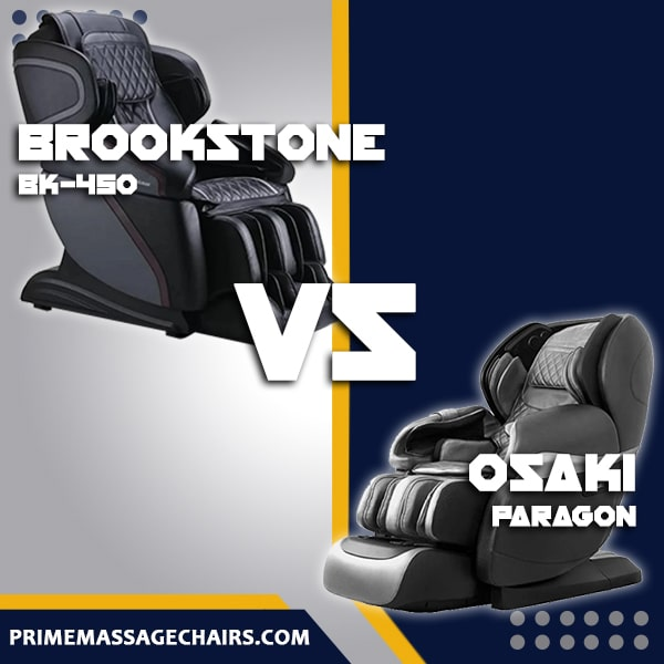 Massage Chair Comparison: Brookstone BK-450 vs Osaki Paragon