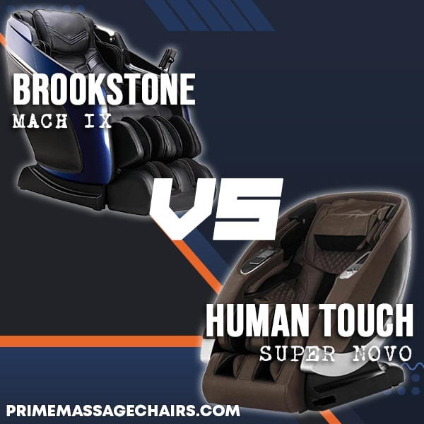 Massage Chair Comparison: Brookstone Mach IX vs Human Touch Super Novo