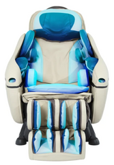 Image of a massage chair highlighting the air bags.