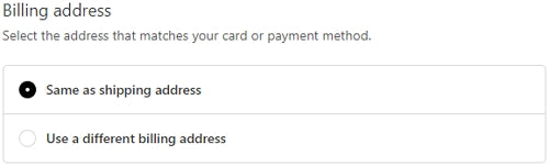 Select Billing Address