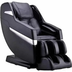 Brookstone BK 250 Massage Chair in Black with White Background