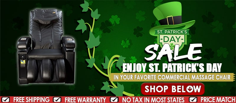 Commercial Massage Chairs St. Patrick Day Sale