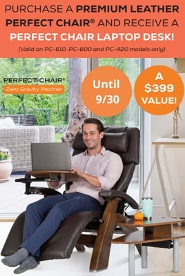 Free Laptop Desk with purchase of Premium Leather upholstery.