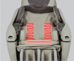 The lumbar and seat heating pads located in the massage chair.
