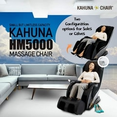 Kahuna HM-5000 Massage Chair in Sole or Calves Option