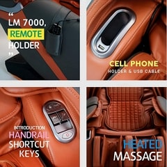 Kahuna LM-7000 Massage Chair Additional Features