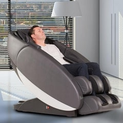 Man Relaxing in Massage Chair