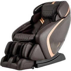 Osak OS Pro Admiral Massage Chair in Brown with White Background