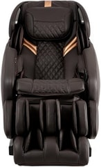 Osaki Admiral Massage Chair in brown color in front view.