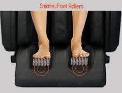 Sharper Image Revival Massage Chair Foot Rollers