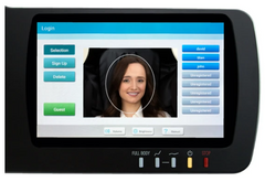 Remote screen showing face recognition.
