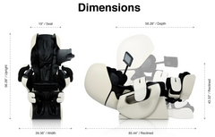 The dimensions of the Inada Robo massage chair