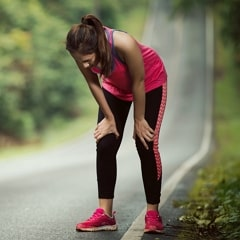 Woman Are Tired From Jogging