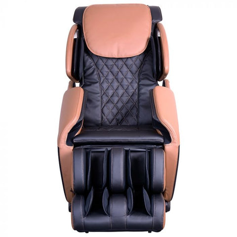 Brookstone BK-150 Massage Chair in Black & Toffee Front View