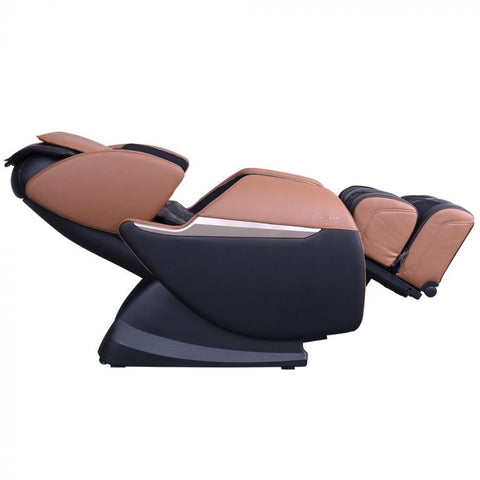 Brookstone BK-150 Massage Chair in Black & Toffee Reclined Position