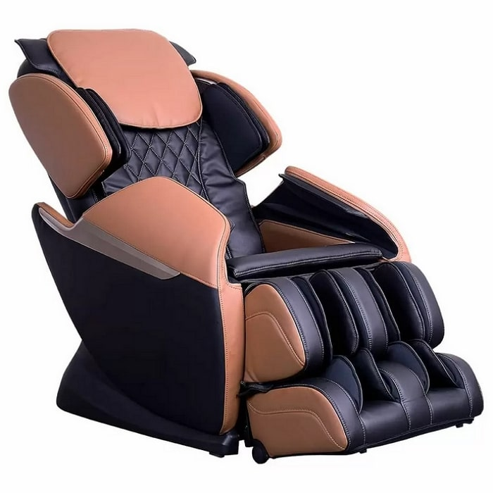 Brookstone BK-150 Massage Chair in Black & Toffee
