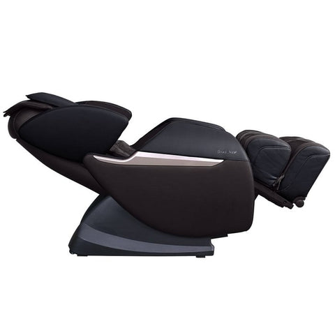 Brookstone BK-150 Massage Chair in Espresso & Black Reclined Position