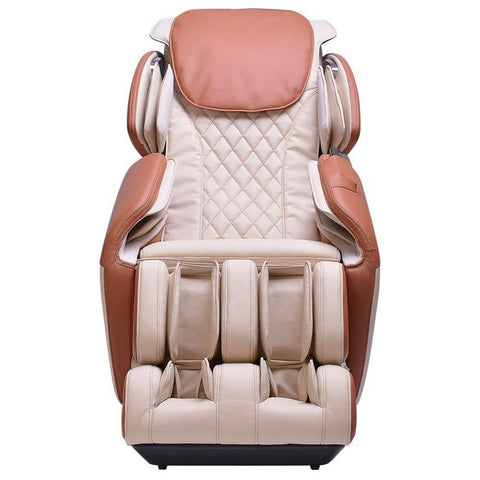 Brookstone BK-150 Massage Chair in Ivory & Toffee Front View