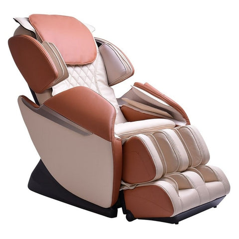 Brookstone BK-150 Massage Chair in Ivory & Toffee