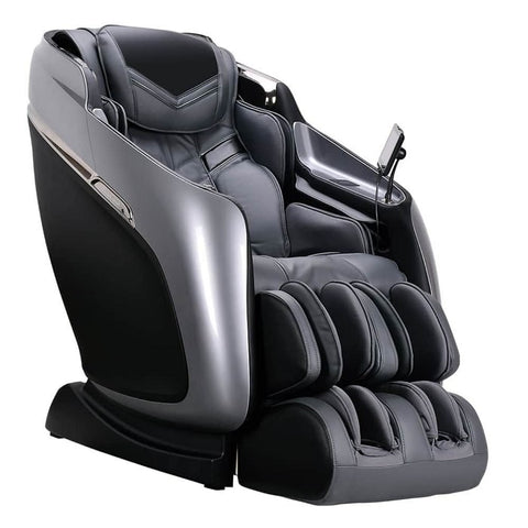 Brookstone Mach IX Massage Chair in Silver & Grey