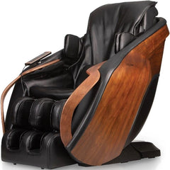 D.Core Cirrus Massage Chair in Black at an angled side view.