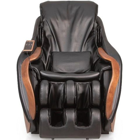 D.Core Cirrus massage chair in black in front view.