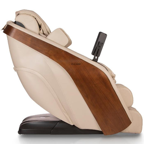 D.Core cloud massage chair in cream color side view showing the right side.