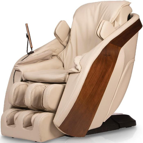D.Core Cloud massage chair in cream color in front angled view.