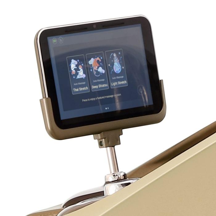 Daiwa Supreme Hybrid Massage Chair in Champagne Touchscreen Tablet