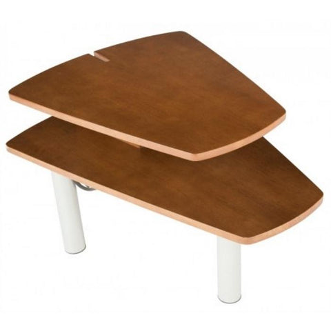 Human Touch Perfect Chair Media Table In Walnut Angled View
