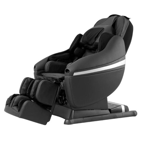 Inada DreamWave massage chair in Black color in a side view.