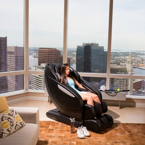 Infinity Altera Massage Chair with Woman Sitting