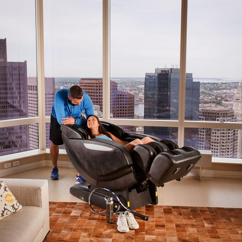 Infinity Altera Massage Chair with Man and Woman