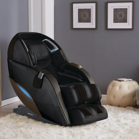 Infinity Dynasty 4D Massage Chair Brown Inside the House