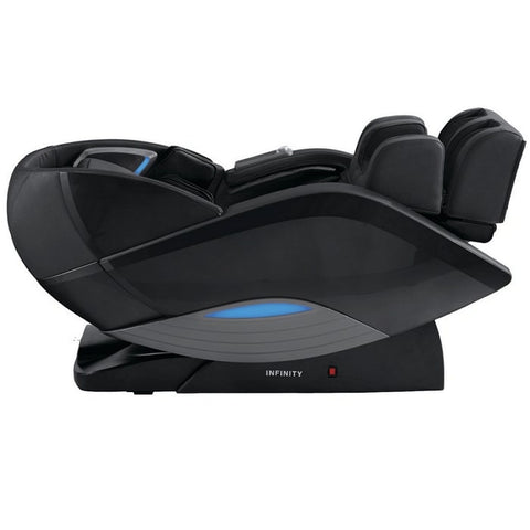 Infinity Dynasty 4D Massage Chair in Black Reclined Position