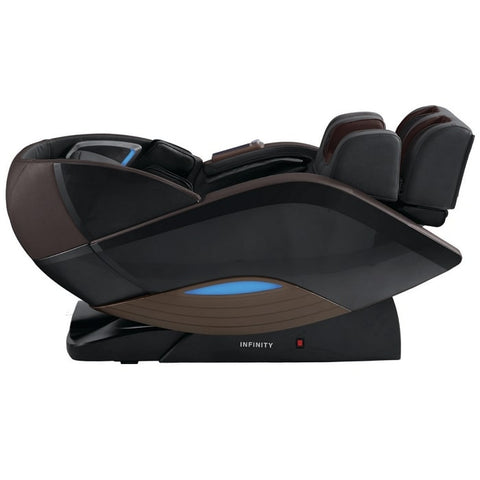 Infinity Dynasty 4D Massage Chair in Brown Reclined Position