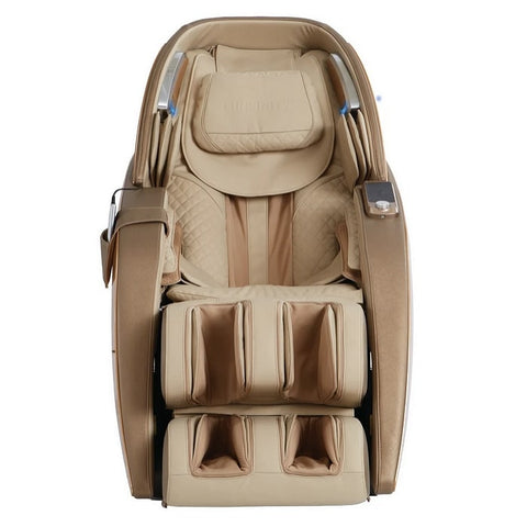 Infinity Dynasty 4D Massage Chair in Gold & Tan Front View
