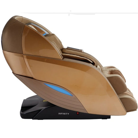 Infinity Dynasty 4D Massage Chair in Gold & Tan Side View