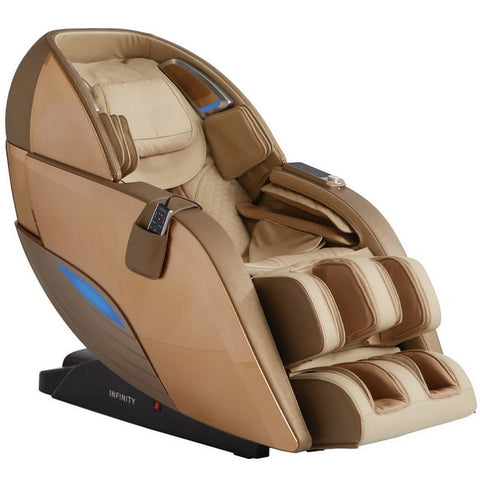 Infinity Dynasty 4D Massage Chair in Gold & Tan