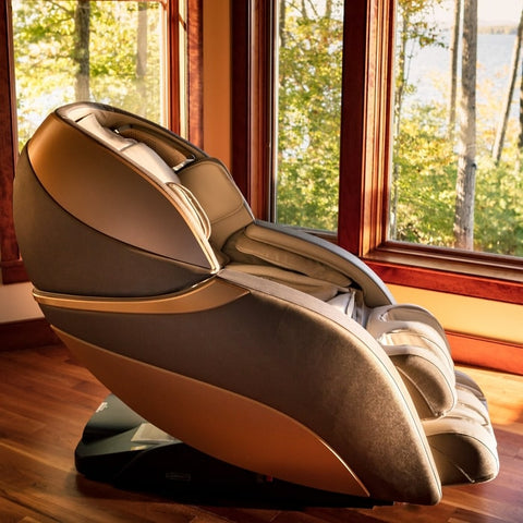 Infinity Genesis Massage Chair with Windows Background