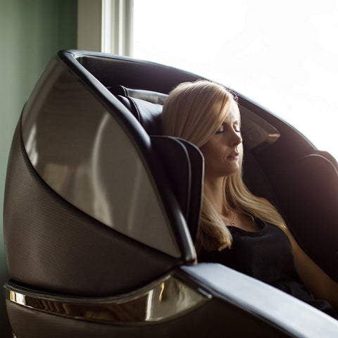 Infinity Genesis Massage Chair with Woman Sitting