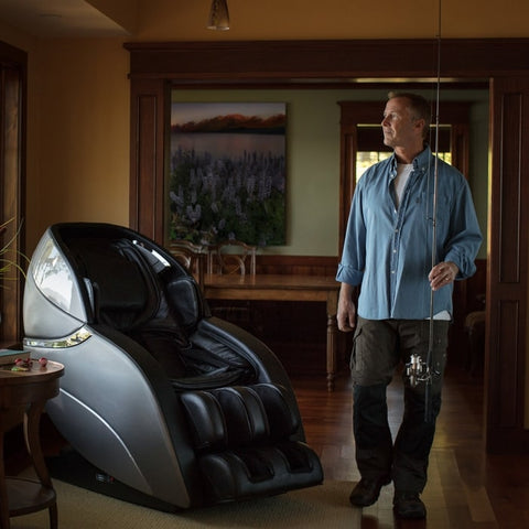 Infinity Genesis Massage Chair in with Man Background