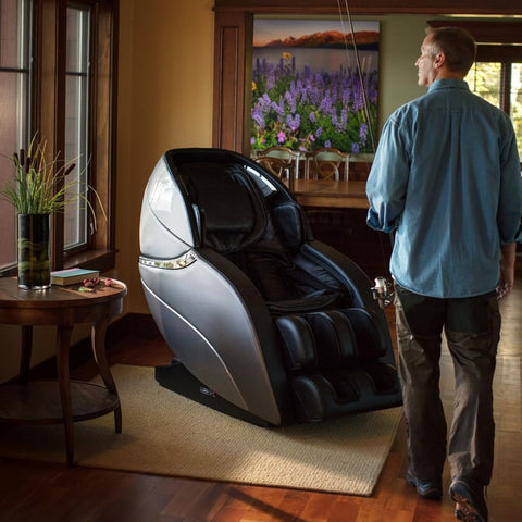 Infinity Genesis Massage Chair with Man Inside The House