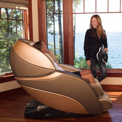 Infinity Genesis Massage Chair With Man and Woman