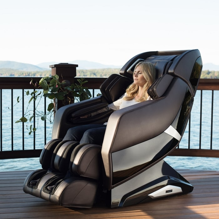Infinity Riage X3 Massage Chair in with Woman Sitting